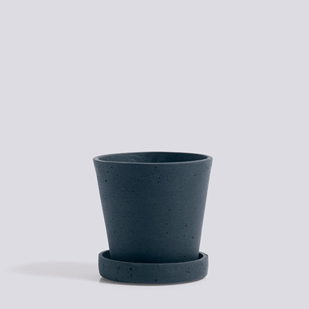 HAY Flowerpot With Saucer S Dark Blue