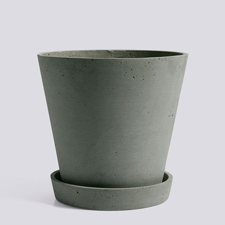 HAY Flowerpot With Saucer XL Green