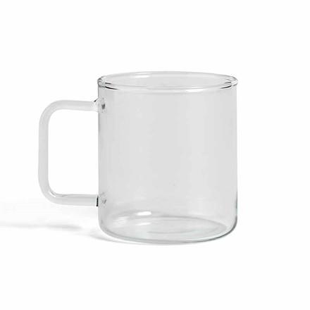 HAY Glass Coffee Mug M Clear