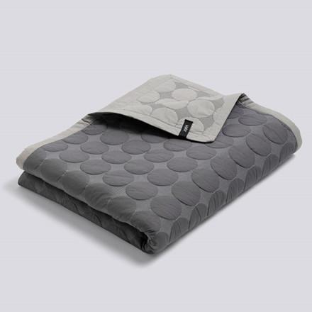 HAY Mega Dot Bed Cover Dark Grey 195 x 245 cm
