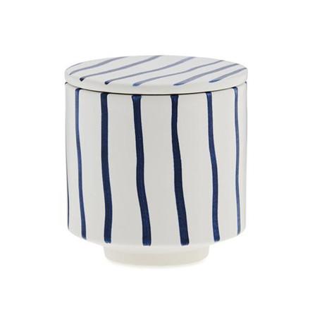 Ania HANNA Mug With Lid Blue Stripes