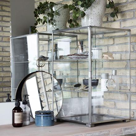 House Doctor Glass Zink Kabinet