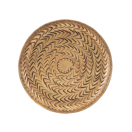 House Doctor Rattan Tray Brass Finish