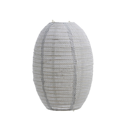 House Doctor Stitch Lampshade Light Grey H 40 cm
