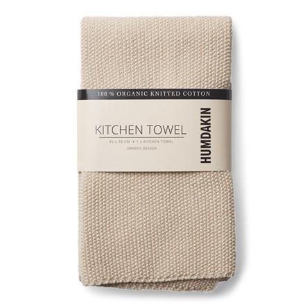 Humdakin Knitted Kitchen Tea Towel Light Stone