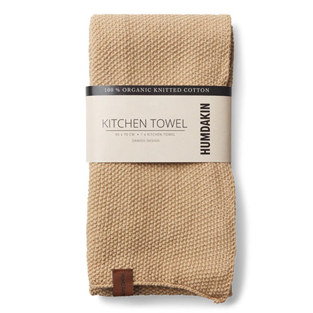 Humdakin Knitted Kitchen Tea Towel Sand
