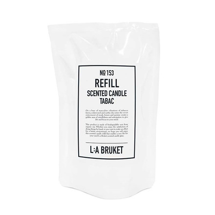 L:A Bruket Refill Scented Candle Tabac