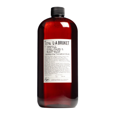 L:A Bruket Hand & Body Wash Cucumber Mint Refill