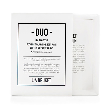 L:A Bruket Duo Kit 1 Soap & Bodylotion Lemongrass