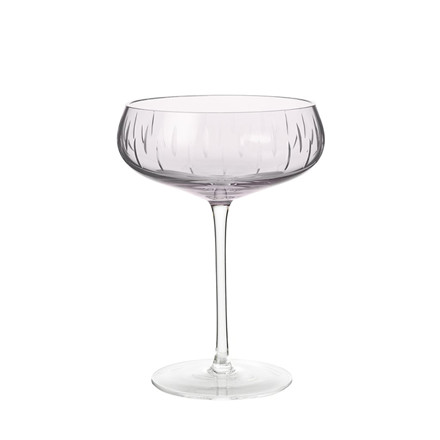 Louise Roe Crystal Champagne Coupe Rose