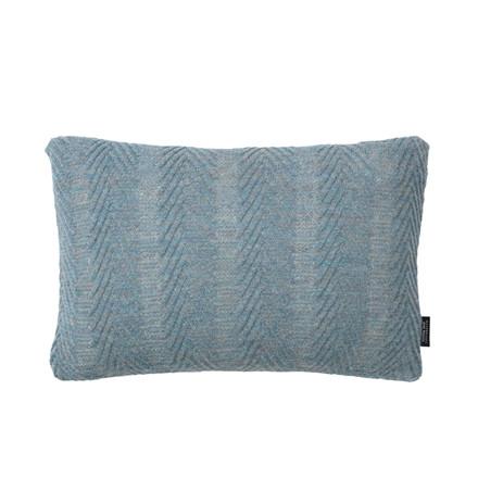 Louise Roe Herringbone Cushion Antique Blue