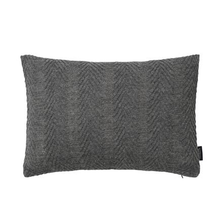 Louise Roe Herringbone Cushion Grey