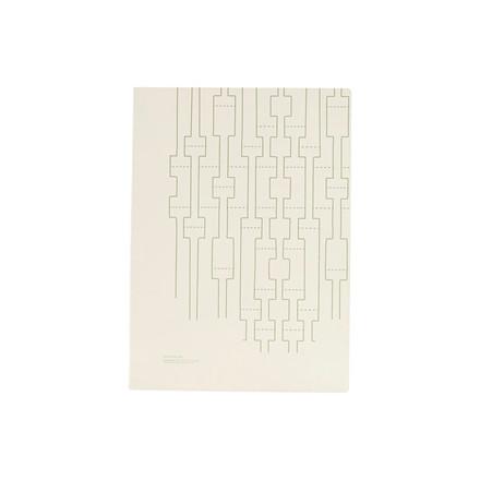 Monograph Note Book Geometric Ecru