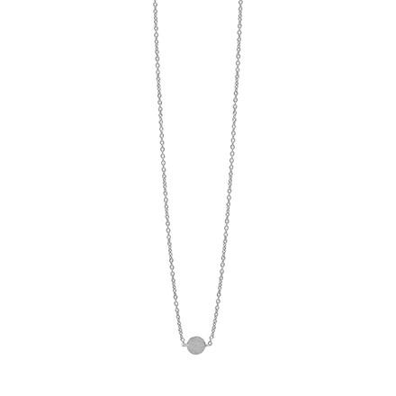 Enamel Copenhagen Coin Necklace Silver