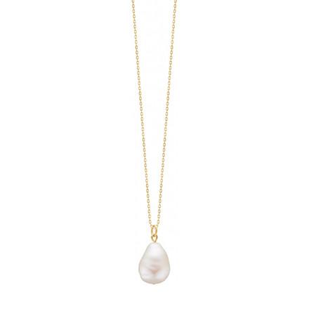 Enamel Copenhagen Baroque Pearl Necklace Gold-Plated