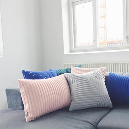 Nomess Linear Memory Pillow Rectangular Nude