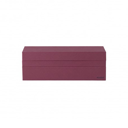 Nomess Rectangular Tray Box Dark Red