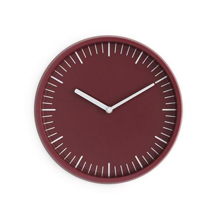 Normann Cph Day Wall Clock Dark Red