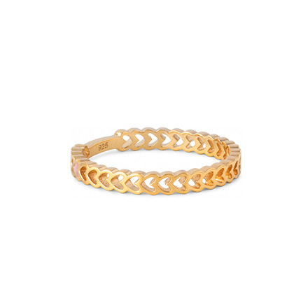 Enamel Copenhagen Heart Ring Gold-Plated