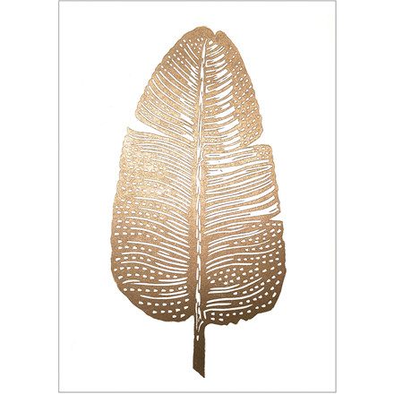 Monika Petersen Gold Feather White A4