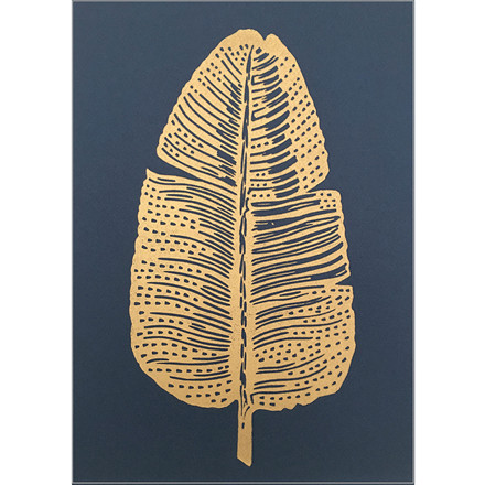 Monika Petersen Gold Feather Indigo A4