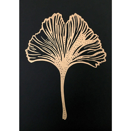 Monika Petersen Gingko Leaf Black A3