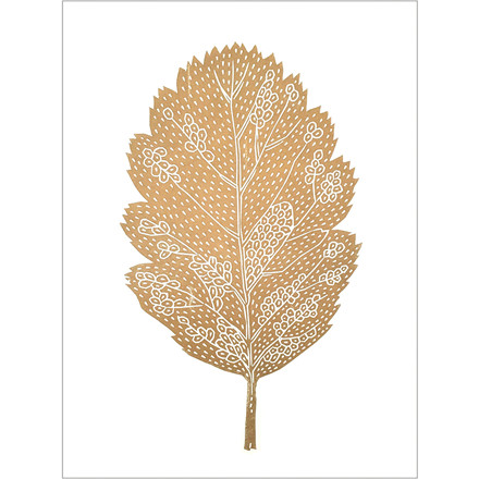Monika Petersen Oak Leaf White A3