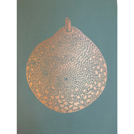 Monika Petersen Round Gold Pear Sage A3