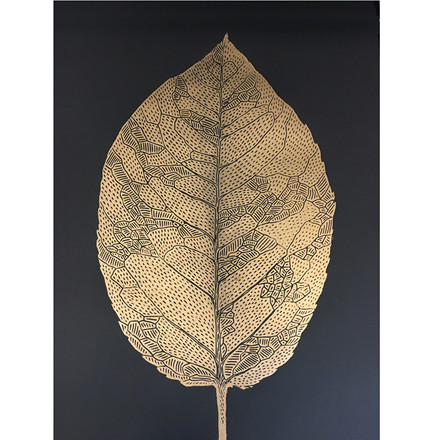 Monika Petersen Leaf Black