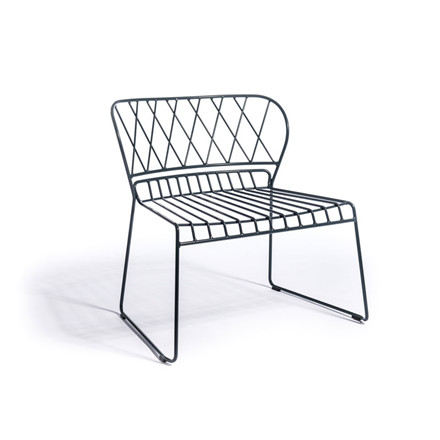 Skargaarden Resö Lounge Chair Charcoal Grey