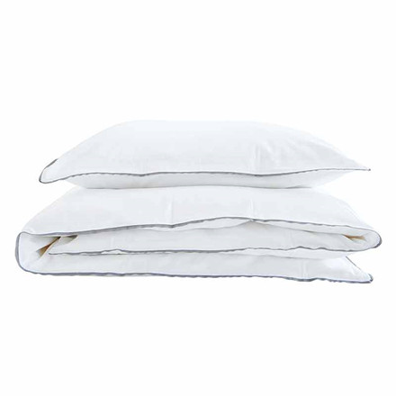 Semibasic A Bed Linen White/Grey