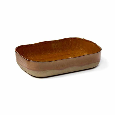 Serax Merci Extra Deep Plate No. 5 L Ocre/Brown