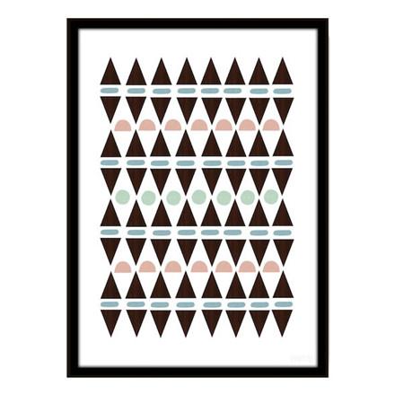 Seventy Tree Aztec Triangles Plakat