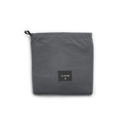 Tell Me More Pillowcase Dark Grey