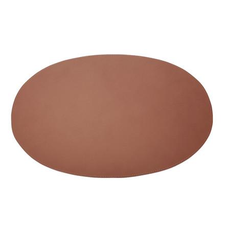 Ørskov & Co. Leather Placemat Oval Cognac
