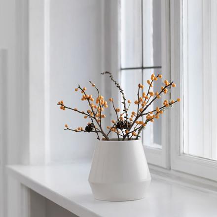 By Lassen Rimm Vase Short Hvid