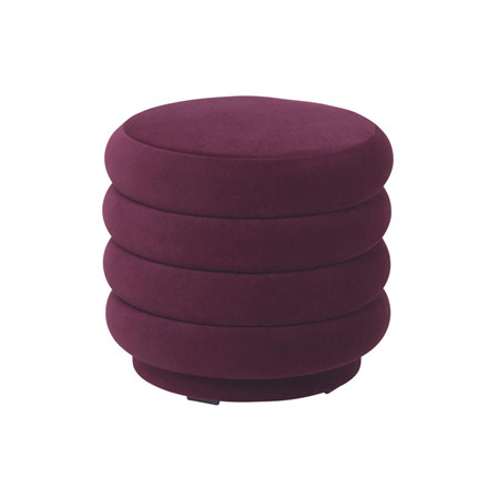 Ferm Living Pouf Round Bordeaux Small