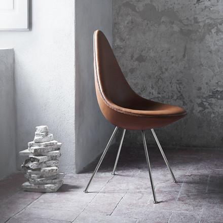 Fritz Hansen 3110 Drop Chair Fuldpolstret Læder