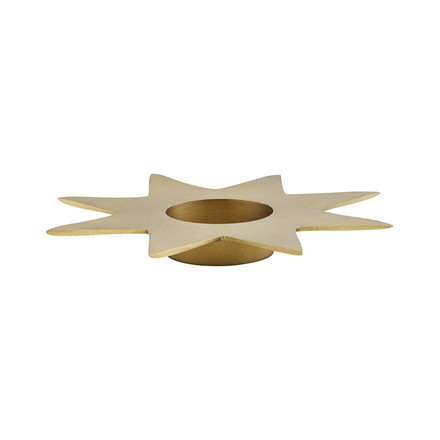 House Doctor Star Candle Stand Gold
