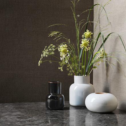 Fritz Hasen Earthenware Rund Vase Pale Grey