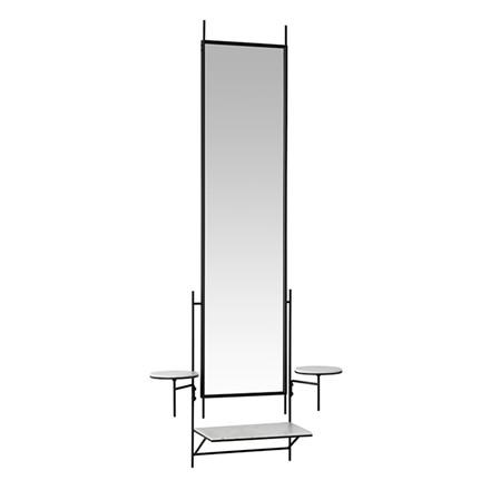 Fritz Hansen Wall Mirror White Carrara-Marmor