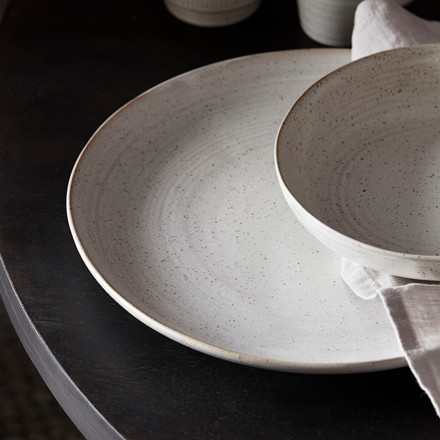 House Doctor Pion Dinner Plate Grey/White