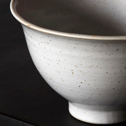 House Doctor Pion High Bowl Grey/White