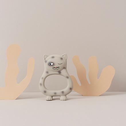OYOY Benny Cat Baby Teether Grey