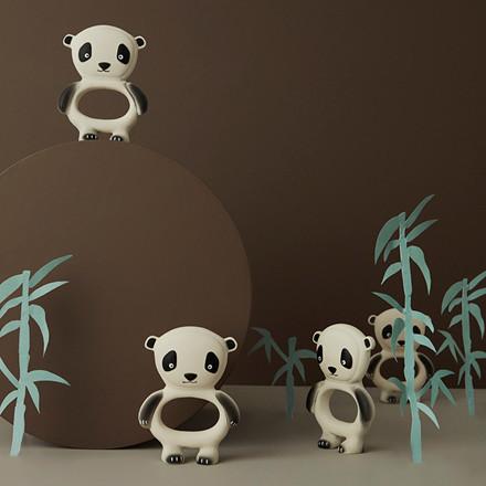 OYOY Panda Baby Teether Offwhite/Black