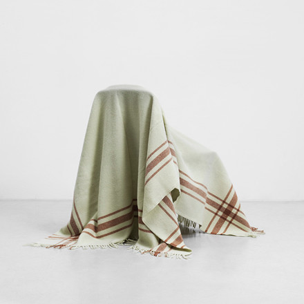 Normann Cph Papa Throw Blanket Frame Pistachio/Camel