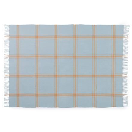 Normann Cph Papa Throw Blanket Check Soft Blue/Peach