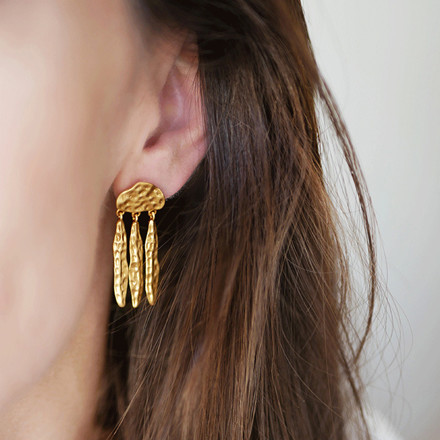 Enamel Copenhagen Unni Earrings Gold-Plated
