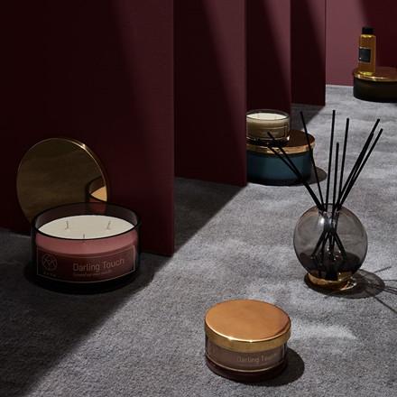 AYTM Globe Vase Black/Gold Ø 17 cm