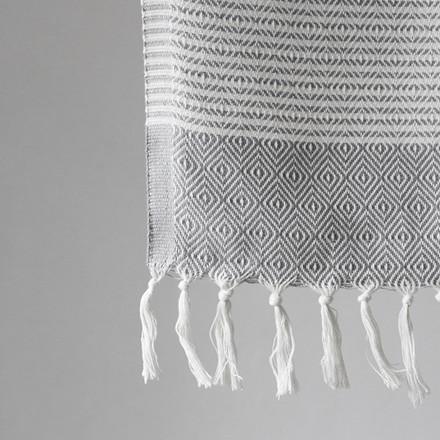 Algan Elmas-iki Gæstehåndklæde Grå